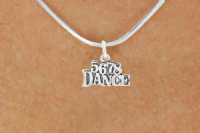 5 6 7 8 Dance Necklace